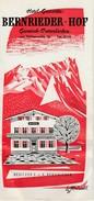 GARMISCH-PARTENKIRCHEN - Hotel Gaststatte BERNRIEDER-HOF - Dépliant De 6 Pages  ( 21 Cm X 10 Cm )  Rare - Dépliants Touristiques