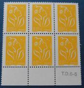 France - YT 3731 - Lot De 6 Timbres - Type Marianne De Lamouche (2005) Neuf ** - Neufs