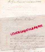 21 - POUILLY EN AUXOIS- RARE LETTRE PAROISSE DOYENNE DIOCESE DIJON- POUR CONSTRUCTION EGLISE SAINT PIERRE 1863-MGR RIVET - Historical Documents