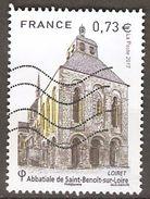 FRANCE   -   2017.  Abbatiale De Saint-Benoit Sur Loire.  Oblitéré. - Used Stamps