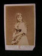 Ancienne Photo Grance Cdv 16,5 Cm Par 10,9 Cm Actrice Comedienne Theatre Vauchelet Vaucheler ? Carjat Et Cie 4 - Photos