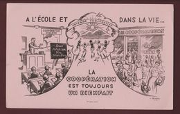 BUVARD - La COOPERATIVE SCOLAIRE - à L'Ecole Et Dans La Vie  - 2 Scannes. - Bambini
