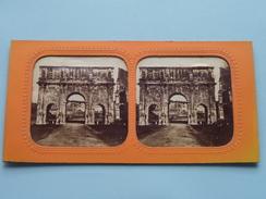 ARC De CONSTANTIN - ROME () Stereo Photo ( Voir Photo Pour Detail ) ! - Photos Stéréoscopiques