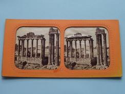 TEMPLE De VESPASIANUS & SATURNE - ROME () Stereo Photo ( Voir Photo Pour Detail ) ! - Photos Stéréoscopiques