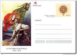 Portugal -  Postkarte  Briefkaart  Postcard - 100 Jahre Republik - Stamps