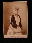 Ancienne Photo Grance Cdv 16,5 Cm Par 10,9 Cm Actrice Comedienne Theatre Darlaudet ? 8 - Photos