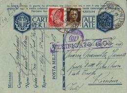 FRANCHIGIA WWII POSTA MILITARE 204 1942 MISSOLUNGI GRECIA X RICCIONE - Military Mail (PM)