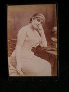 Ancienne Photo Grance Cdv 16,5 Cm Par 10,9 Cm Actrice Comedienne Theatre Marguerite Bacard Fils 12 - Photos