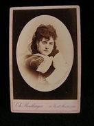 Ancienne Photo Grance Cdv 16,5 Cm Par 10,9 Cm Actrice Comedienne Theatre Pellegrin Reutlinger 5 - Photos