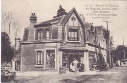 Cpa-50-urville Nacqueville--magasin Jeanne D'arc- Chez Brault-edi E.B N°629 - Andere Gemeenten