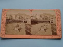 Place Du Plebiscite A NAPLES ( J.A. (Vues D'Italie) 718 ) Stereo Photo ( Voir Photo Pour Detail ) ! - Photos Stéréoscopiques