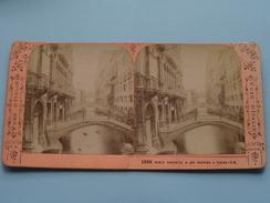 Ponts Canonica & Des Soupirs A VENISE ( J.A. (Vues D'Italie) 2996 ) Stereo Photo ( Voir Photo Pour Detail ) ! - Photos Stéréoscopiques