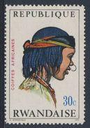 Ruanda Rwanda 1971 Mi 440 A YT 409 ** Chad Woman – African Hairdresses / Tschad  Haartracht - Rwanda
