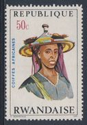 Ruanda Rwanda 1971 Mi 441 A YT 410 ** Bororo Man, Niger – African Hairdresses / Niger Haartracht - 1970-79: Ongebruikt