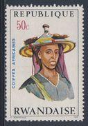 Ruanda Rwanda 1971 Mi 441 A YT 410 ** Bororo Man, Niger – African Hairdresses / Niger Haartracht - Rwanda