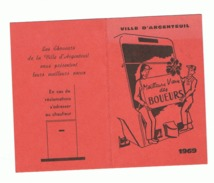 Calendrier De Poche 1969 - Voeux Des Eboueurs D'ARGENTEUIL (fr53) - Calendriers