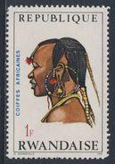 Ruanda Rwanda 1971 Mi 442 A YT 411** Masai Man, Kenya – African Hairdresses / Kenia Haartracht - Rwanda