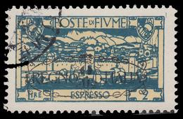 FIUME: San Vito E Soggetti Vari / Soprastampato REGNO D'ITALIA - Espresso Lire 2 Azzurro - 1924 - Fiume