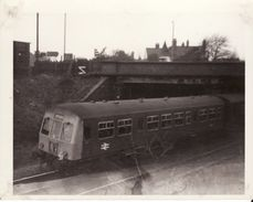 Railway Photo BR Class 101 DMU Stockton C1970 Diesel Richard Hind School - Trains