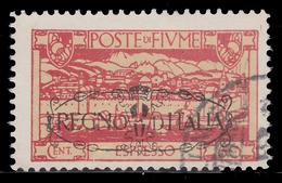 FIUME: San Vito E Soggetti Vari / Soprastampato REGNO D'ITALIA - Espresso 60 C. Carminio - 1924 - Fiume