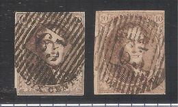 TP 10A-10 Médaillons 10 C.Brun 2 Nuances PR4760 - 1858-1862 Medallions (9/12)