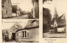 CPA - FURCHHAUSEN (67) - Carte Multi-Vues De 1934 - La Poste , Grand Rue Et L'Eglise - Autres Communes