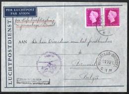 NEDERLAND 1947 Eerste Speciale Vlucht Hefschroefvliegtuig 'sGravenhage-Brussel - Airmail