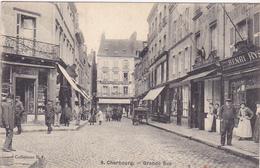 Cpa-50-cherbourg-animée--grande Rue -edi R.F. N°9 - Cherbourg