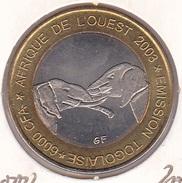 Togo - 6000 6.000 CFA 2003 Bimetallic Elefant - UNC - Togo