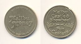 USA MALIBU MONEY CASTLE & SHOWBOAT FAN CENTERS AMUSEMENT SLOT GAMES MACHINE TOKEN JETON GETTONE Metal Ø25mm - Firma's