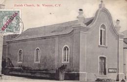S.VICENTE, Cabo Verde. - Parish Church. Carte Ancienne Pas Courante - Cap Vert