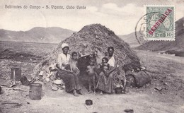 S.VICENTE, Cabo Verde. - Habitantes Do Campo.  Carte Ancienne Très RARE - Cap Vert