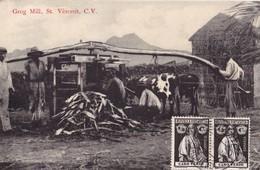 S.VICENTE, Cabo Verde. - Grog Mill.  Carte Ancienne Très RARE - Cape Verde