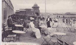 Cpa-50-cherbourg-animée-terrasse Du Casino-edi L.L. N°96 - Cherbourg
