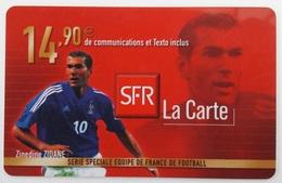Prépayée SFR France 98  Zidane  Code Gratté - France