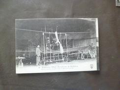CPA 01 Ain Ambérieu Aérodrome De Bellièvre Biplan Sclaves ....  TBE - France