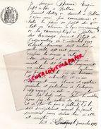 87 - BELLAC- LETTRE ACCEPTATION TRAVAUX EUGENE DECOUX MARCHAND DE BOIS- LIMOGES 1913 - Historical Documents