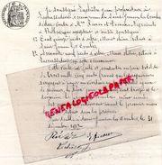 87 - SAINT JUNIEN LES COMBES- LETTRE VENTE ARBRES JEAN LACHATRE PROPIETAIRE A LACOUSSEDIERE-A M. RIVIES ET DECOUX BELLAC - Historical Documents