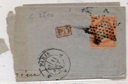Fragment De Lettre (LSC)  Adressée De PARIS A MADRID - Etoile De Paris Sur Yvert 16 Avec Piquage Susse     (100416) - 1701-1800: Voorlopers XVIII