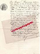 87 -BELLAC-LETTRE ANTONIN BAZANNERY-INGENIEUR PONTS CHAUSSEES A M. DECOUX BELLAC POUR TRAVAUX MEZIERES SUR ISSOIRE-1914 - Historical Documents