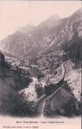 Chemin De Fer Viège - Zermatt, Train Traversant La Viège (3358) - VS Valais