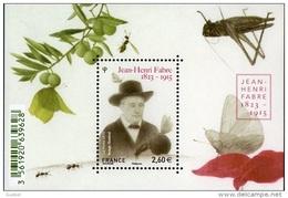 France BF N° F 4980 ** Jean-Henri Casimir Fabre - Sheetlets