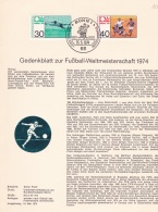 Germany Gedenkblatt 197 World Cup FIFA Football (LAR6-2) - Coupe Du Monde
