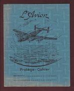 PROTEGE-CAHIER - L'AVION - 4 Volets, 70 Cm Dépliés - Coloris Bleu - Voir Les 4 Scannes - Copertine Di Libri