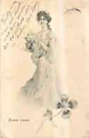 ILLUSTRATEUR   FEMME  BONNE ANNEE  A.S.W. - Illustrateurs & Photographes