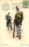 Thematiques Belgique Belgium Armée Belge Chasseur à Pied  Cachet Brussel Bruxelles Exposition1910 - Unclassified