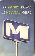 Plan Du NOUVEAU Métro De Bruxelles - 4 Avril 2009 - Europe