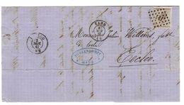 TP 17 S/LAC LOS 141 C.Gand 1/11/1867 ETS Müllendorfff Gand V.Eecloo C.d'arrivée PR4764 - Postmarks - Points