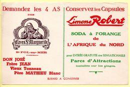 Buvard Limone Robert, Soda à L'orange - Vins Caves Ste Marguerite à St Pol Sur Mer. - Limonades