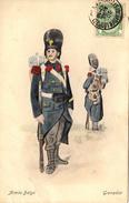Thematiques Belgique Belgium Armée Belge Grenadier Cachet René De Quanter Avenue Des Nerviens 22 Bruxelles - Unclassified